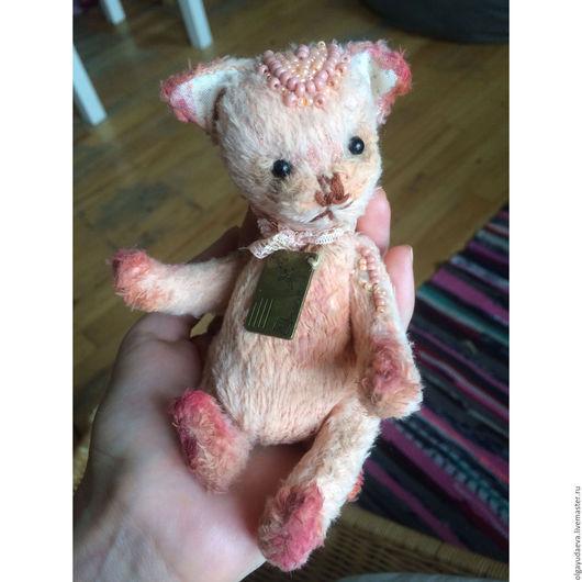 Мишки Тедди ручной работы. Ярмарка Мастеров - ручная работа. Купить Котенок. Handmade. Кремовый, тедди, игрушка ручной работы