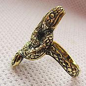 Украшения ручной работы. Ярмарка Мастеров - ручная работа Змея кольцо. Handmade.