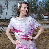 """Одежда ручной работы. Ярмарка Мастеров - ручная работа Войлочное платье """"Крокусы"""". Handmade."""