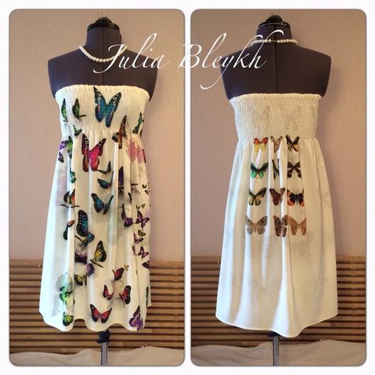 """Платья ручной работы. Ярмарка Мастеров - ручная работа. Купить Платье """"Бабочки 3d"""". Handmade. Платье, бандо, вискоза"""