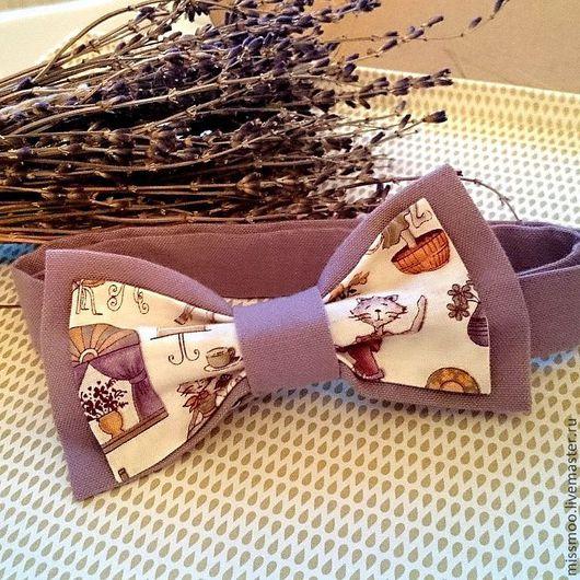 Галстуки, бабочки ручной работы. Ярмарка Мастеров - ручная работа. Купить Галстук-бабочка Лавандовый кот. Handmade. Сиреневый, бабочка