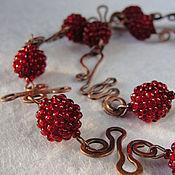 """Украшения ручной работы. Ярмарка Мастеров - ручная работа Ожерелье """"Cranberries"""". Handmade."""