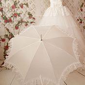 """Аксессуары ручной работы. Ярмарка Мастеров - ручная работа Свадебный зонт """" Счастье здесь"""". Handmade."""