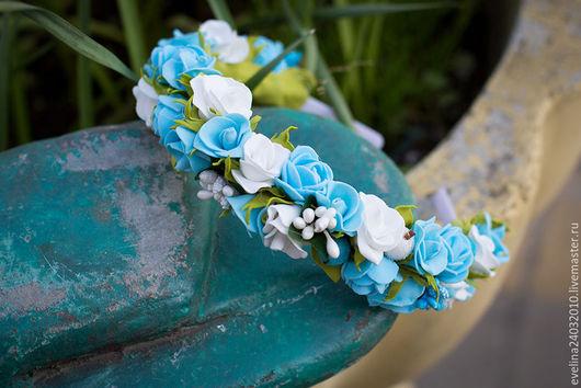 Диадемы, обручи ручной работы. Ярмарка Мастеров - ручная работа. Купить Ободок из цветов из фоамирана. Handmade. Комбинированный, ободок для девушки