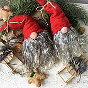 Куклы и игрушки handmade. Livemaster - original item Christmas gnomes with a sledge. Handmade.