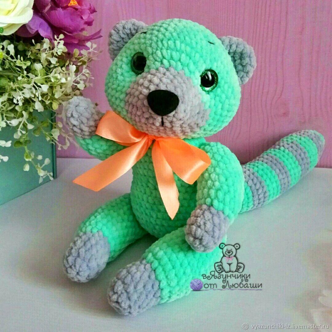 Toy lemur knitted plush toy lemur soft toy, Stuffed Toys, Volokolamsk,  Фото №1