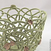Цветы и флористика handmade. Livemaster - original item Pots for orchids Pistachio. Handmade.