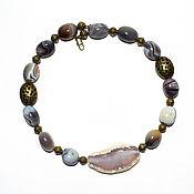 Necklace handmade. Livemaster - original item Unusual necklace made of Brazilian agate. Handmade.