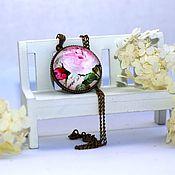 """Украшения ручной работы. Ярмарка Мастеров - ручная работа Кулон """"Розовый сад"""" версия 3. Handmade."""