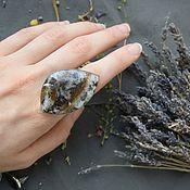 Украшения handmade. Livemaster - original item The ring on the whole finger with moss agate (dendroica). Handmade.