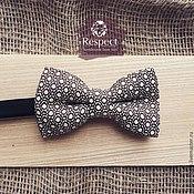 Аксессуары handmade. Livemaster - original item Tie butterfly Macho / gray bow tie in polka dot. Handmade.