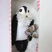 Куклы и игрушки ручной работы. Ярмарка Мастеров - ручная работа Мягкая игрушка птичка №20 с белым бантом. Handmade.