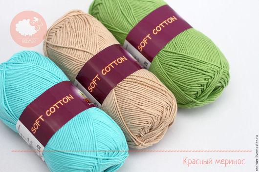 Вязание ручной работы. Ярмарка Мастеров - ручная работа. Купить Vita Soft Cotton. Handmade. Белый, недорого, распродажа