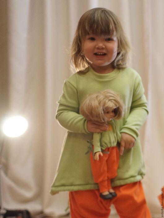 Одежда для кукол ручной работы. Ярмарка Мастеров - ручная работа. Купить шаровары для куклы. Handmade. Оранжевый, family look