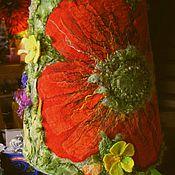 """Для дома и интерьера ручной работы. Ярмарка Мастеров - ручная работа Светильник """"Маковое лето"""". Handmade."""