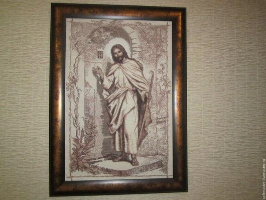 Иисус стучится в твою дверь.Очень красивая картина,выполнена аккуратно,с любовью. будет шикарно смотреться в вашем доме.