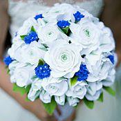 """Свадебный салон ручной работы. Ярмарка Мастеров - ручная работа Букет невесты """"Утренняя свежесть"""" с розами и незабудками. Handmade."""