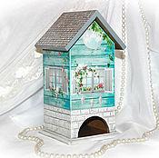 """Для дома и интерьера ручной работы. Ярмарка Мастеров - ручная работа Чайный домик """"Бирюзовый"""". Handmade."""
