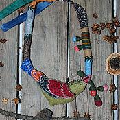 Украшения ручной работы. Ярмарка Мастеров - ручная работа В осеннем небе текстильное колье. Handmade.