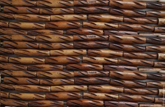 Для украшений ручной работы. Ярмарка Мастеров - ручная работа. Купить Кость трубочки, светло коричневый цвет. Handmade. Коричневый