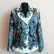 Одежда ручной работы. Ярмарка Мастеров - ручная работа Жакет из павловопосадского платка. Handmade.