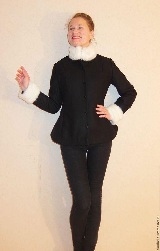 """Верхняя одежда ручной работы. Ярмарка Мастеров - ручная работа. Купить Пальто зимнее """"Karolin"""". Handmade. Черный, Полу-пальто"""