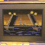 Картины и панно ручной работы. Ярмарка Мастеров - ручная работа Ночной Питер. Handmade.