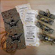 Открытки ручной работы. Ярмарка Мастеров - ручная работа Приглашение на День Рождения в стиле Black STAR. Handmade.