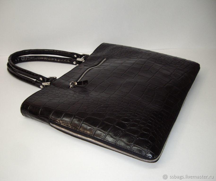 Leather bag. Bag folder, Classic Bag, St. Petersburg,  Фото №1