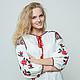 """Блузки ручной работы. Ярмарка Мастеров - ручная работа. Купить Вышитая блуза туника  """"Полная гармония"""" вышиванка. Handmade. Белый"""