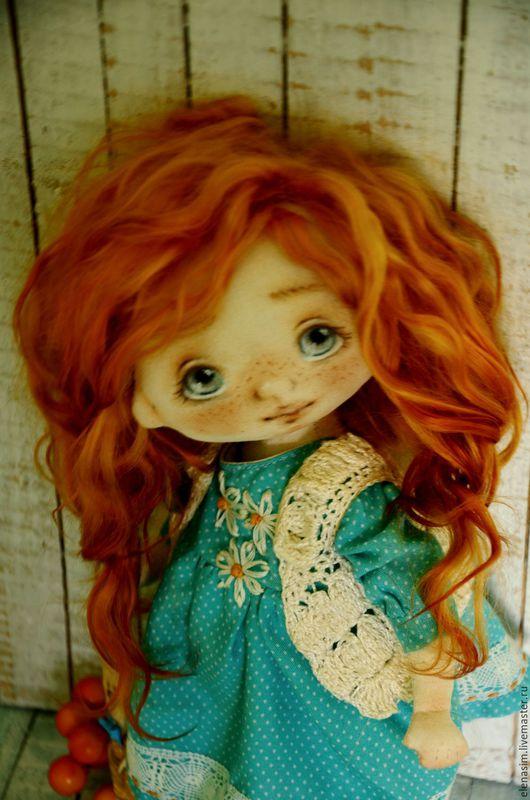 Коллекционные куклы ручной работы. Ярмарка Мастеров - ручная работа. Купить Асенька. Handmade. Бирюзовый, выкройка, арт, ручная работа