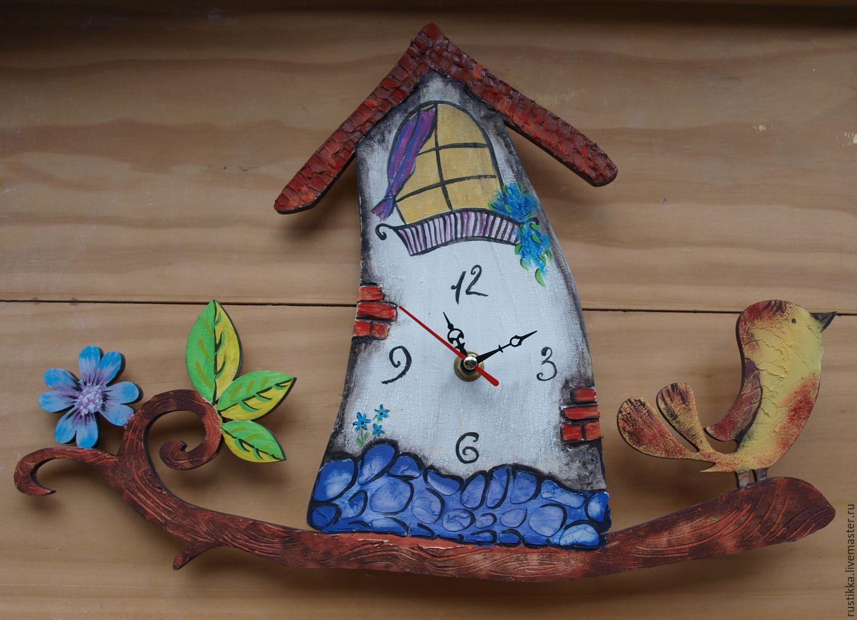 """Настенные часы """"Птичий домик"""", Часы, Санкт-Петербург, Фото №1"""