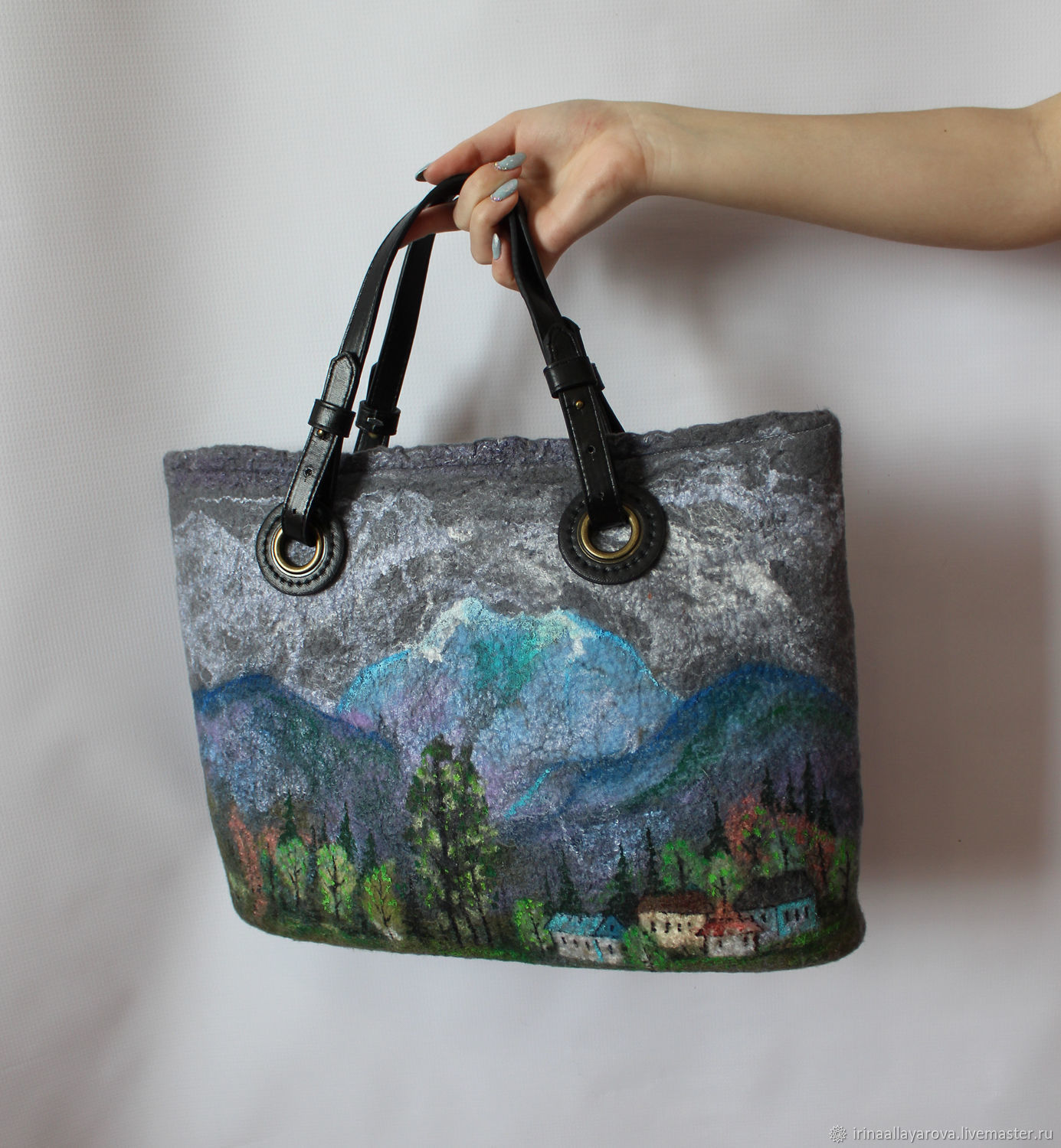 Felted bag In the mountains...!, Bags, Verhneuralsk, Фото №1