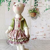 """Куклы и игрушки ручной работы. Ярмарка Мастеров - ручная работа Кошка """"Вдыхай меня по чуть-чуть"""". Handmade."""