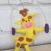 """Куклы и игрушки ручной работы. Ярмарка Мастеров - ручная работа Набор зверюшек в стиле """"Фитнесс"""". Handmade."""