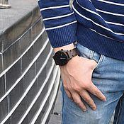 Часы наручные ручной работы. Ярмарка Мастеров - ручная работа Часы наручные Woodee Oriente Dark. Handmade.