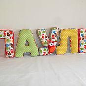 Для дома и интерьера handmade. Livemaster - original item Soft letter-pillow, name of the letter-pillow, name of the pillow. Handmade.