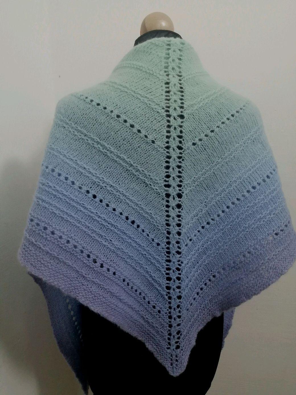вязание спицами бактуса платков из овечьей шерсти