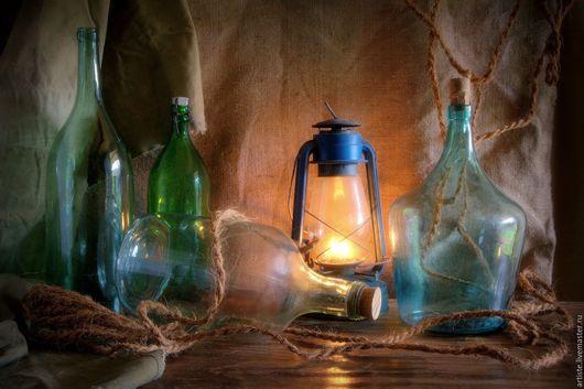 Фотокартины ручной работы. Ярмарка Мастеров - ручная работа. Купить Натюрморт с бутылями. Handmade. Комбинированный, натюрморт, фотобумага