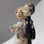 Свадебный салон ручной работы. Ярмарка Мастеров - ручная работа Свадебное украшение для торта. Жених и невеста . Полицейский.. Handmade.