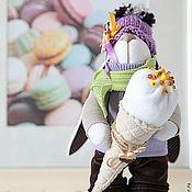 Куклы и игрушки ручной работы. Ярмарка Мастеров - ручная работа Зайцы. Заяц с мороженым.. Handmade.