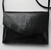 Сумки и аксессуары handmade. Livemaster - original item leather womens crossbody bag black leather. Handmade.