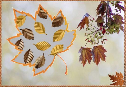 Набор листиков розы из бумаги с тиснением, 2 цвета