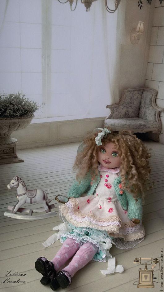 Коллекционные куклы ручной работы. Ярмарка Мастеров - ручная работа. Купить Мелисса, текстильная кукла. Handmade. Мятный, розовый, кремовый