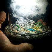 """Модели ручной работы. Ярмарка Мастеров - ручная работа Ночник, миниатюра """"Горное озеро"""". Handmade."""