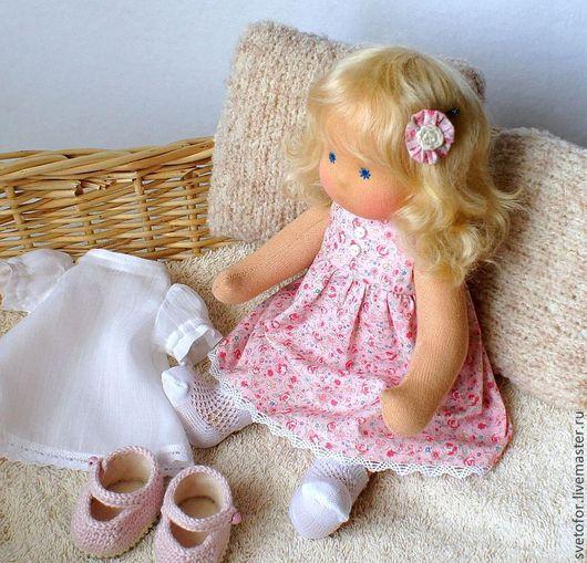 Вальдорфская игрушка ручной работы. Ярмарка Мастеров - ручная работа. Купить Принцесса Катюша, 29 см. Handmade. Розовый