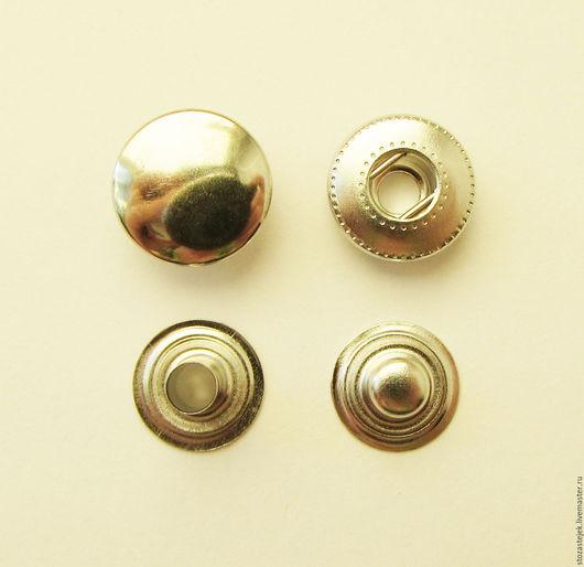 Шитье ручной работы. Ярмарка Мастеров - ручная работа. Купить Кнопка альфа 12,5 мм (НЕРЖАВЕЙКА). Handmade.