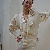 Одежда ручной работы. Ярмарка Мастеров - ручная работа Жакет-Кардиган  трикотажный. Handmade.