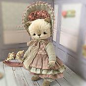 Мишки Тедди ручной работы. Ярмарка Мастеров - ручная работа Кошка тедди (Мона). Handmade.
