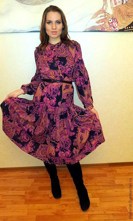Платья ручной работы. Ярмарка Мастеров - ручная работа. Купить Платье из итальянской шерсти. Handmade. Цветочный, авторское платье